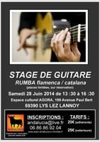 Association Andalucía - stage de guitare